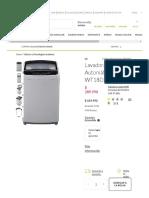 LG Lavadora Automática 18 Kg WT18DSB - Falabella.com