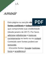 Âmbar – Wikipédia, A Enciclopédia Livre