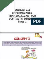 VII.- Enfermedades Transmitidas Por Contacto Directo