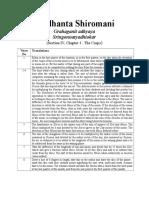Siddhanta Shiromani Ch 16 Translated