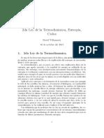 Segunda Ley de la Termodinámica y Entropía