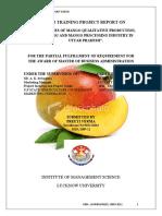 Detail Studies of Mango Qualitative Production, Its Marketing and Mango Processing Industry in Uttar Pradesh