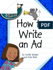 Explorer Junior Library Language Arts Explorer Junior Cecilia Minden Kate Roth-How to Write an Ad-Cherry Lake Publishing