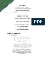 Letra Para Cantar