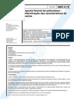 NBR 9178 - Espumas Flexiveis de Poliuretano - Determinacao Das Caracteristicas de Queima