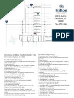 hilton charlotte center city map