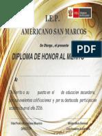 Diploma de Honos San Marcos