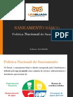 Aula 1.2 - Política Nacional Do Saneamento e Plano Diretor