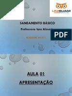 Aula _Apresentação. Saneamento