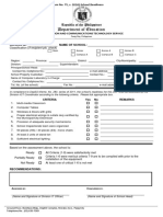 e Readiness Form