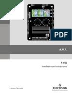 Leroy Somer - Voltage Regulator R450 Installation and Maintenance