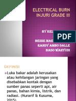 Electrical Burn Injury Grade 3