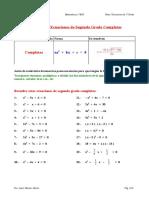 Ecuaciones Segundo Grado Completas Resueltas