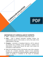 Curriculum Evaluation CHAPTER 6