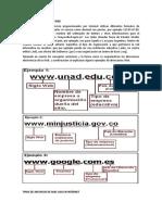 Formatos de Dirección Web
