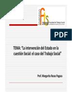 La Intervencion Del Estado en La Cuestion Social El Caso Del Trabajo Social . Rozas El Campo Profesional Del TS
