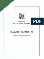 PMF - Hoja de Respuestas