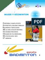 Boletín Mujer y Bádminton 1-2013