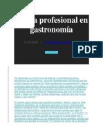 A Ética Profesional en Gastronomía
