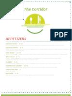 the corridor restaurant menu at the holiday inn airport
