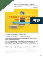 Upliftr.de - So setzt du Google-Analytics richtig ein