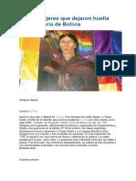 Las 12 Mujeres Que Dejaron Huella en La Historia de Bolivia