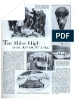 1931 Popular Mechanix Article of Dr. Auguste Piccard Ten Miles High in an Airtight Balloon