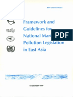 Framework and Guidelines for National Marine Pollution Legislation in East Asia