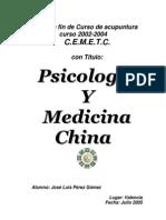 Psicologia y Medicina China