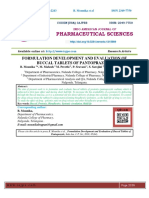 FORMULATION DEVELOPMENT AND EVALUATION OF BUCCAL TABLETS OF PANTOPRAZOLE