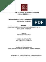 Ensayo Pedagogia y Didactica Hector Sotero