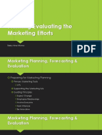 Planning Evaluating the Marketing Efforts