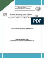 Manual de Prácticas de Caracterización de materiales