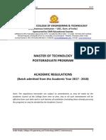 R17 M.tech (PG) Academic Regulations 2017