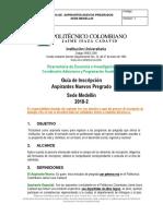 Guia Apirantes Nuevos Pregrado Medellin 2018 2