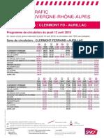 Ligne Clermont - Aurillac