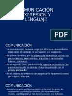 1 Comunicación, Expresión y Lenguaje