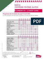 Ligne Clermont - Le Mont-Dore