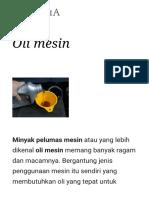 √√√√Oli mesin - Wikipedia bahasa Indonesia, ensiklopedia bebas
