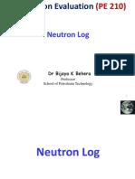 9..Neutron Sonic Log