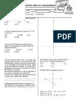 Avaliação de Matemática 3ºB