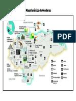 Mapa Turistico de Honduras