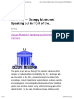 Art F City — Occupy Museums! Speaking Out in Front of the...