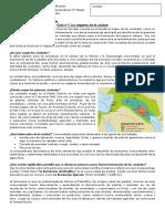 Guía 1 - Unidad 2 La Ciudad en La Historia
