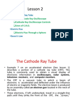Lesson 2 the Cathode Ray Oscilloscope