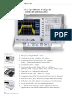 Spectrum Analyzer Hms3000_hms3010
