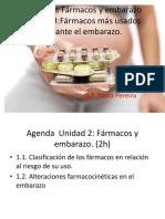 Unidad 2 y 3 Farmacos y Embarazo [Farmacología III)