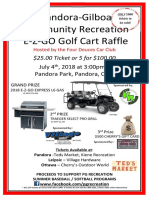 golf cart raffle flyer