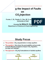 Simulating Impact of Faults on CO2 Injection Gsaco2