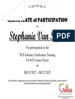 stephanie van slyke certificate